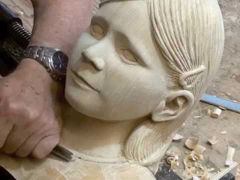 "Wood carving Granddaughter ""Jane"""