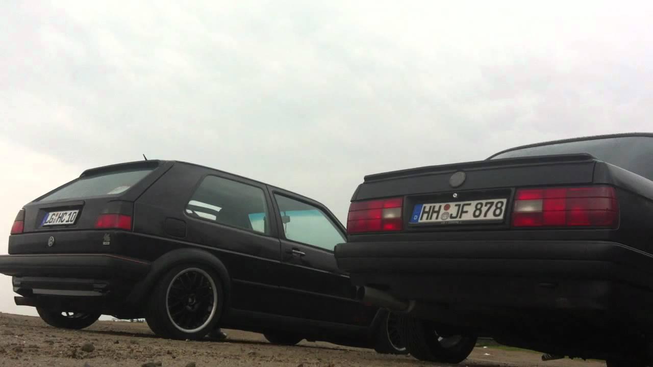 Sound VW Golf 2 VR6 und BMW E30 325i(s) - YouTube