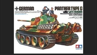 tamiya 1/35 Panther Type G (Late Version) Scale Model Review