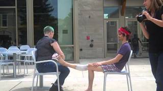 Shaving Legs in Public
