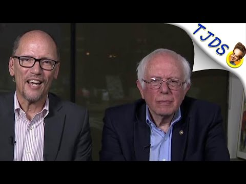 Bernie Sanders VISIBLY P*ssed At DNC Chair During Joint Interview