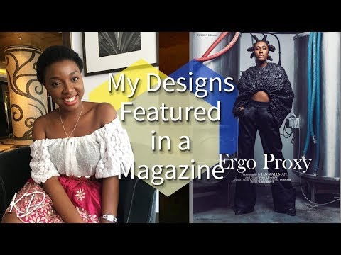 MY DESIGNS FEATURED IN A MAGAZINE!!!💃 | LIFE AFTER FASHION SCHOOL #5 | KIM DAVE