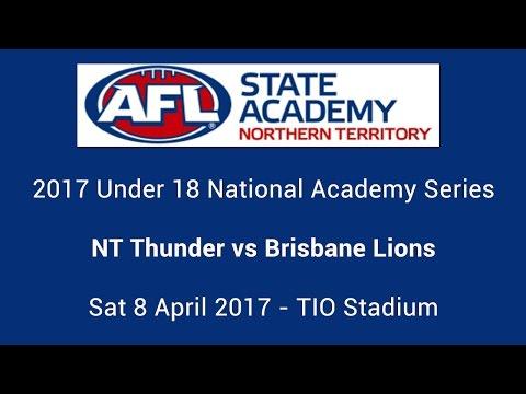 AFLNT Under 18 State Academy vs Brisbane Lions Academy