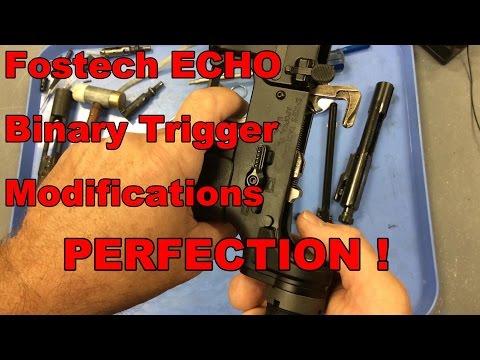 Fostech Echo Binary Trigger Bolt Carrier Modification to Lighten Trigger Pull