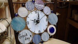 ВИТРАЖИ КОНКУРС!!! Розыгрыш, витражные часы HandMade!! DIY
