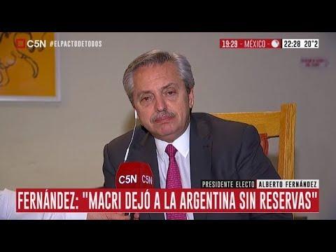 Alberto Fernández desde México