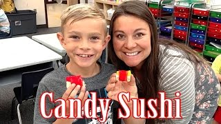 KIDS LEARN HOW TO MAKE CANDY SUSHI