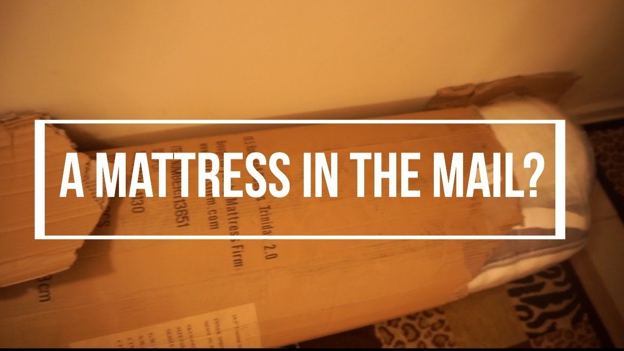 vlogmas day 5 mailed a mattress hampton rhodes mattress unboxing and shopping