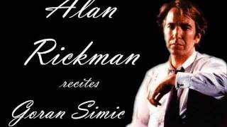 "Alan Rickman recites ""Dogs and bones"""