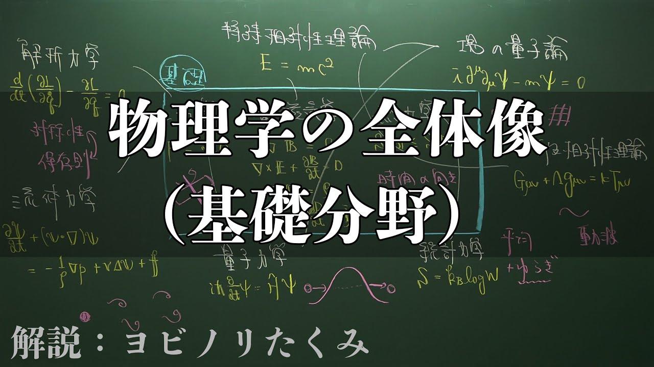 大学で学ぶ物理を板書1枚にまとめてみた - YouTube