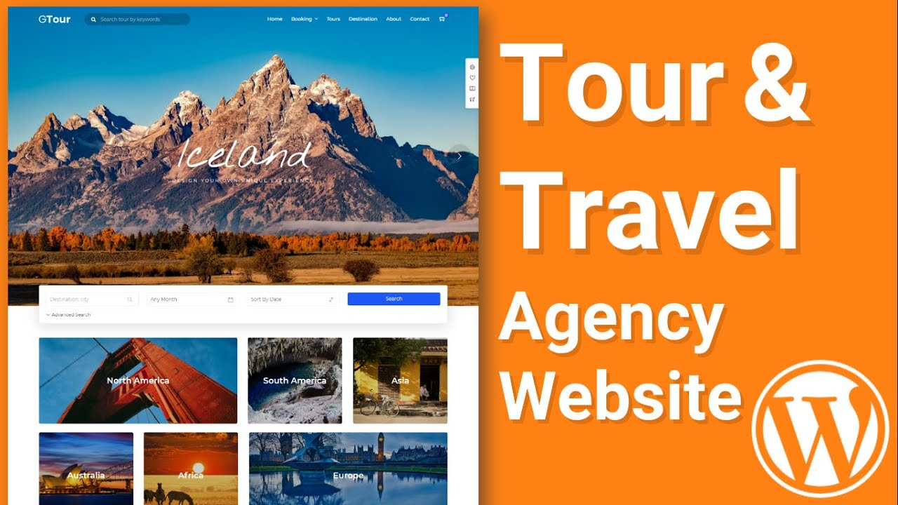 Make Tours & Travel Agency WordPress Website with WordPress 2021