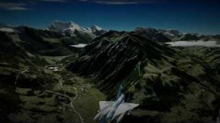FSX - Mirage 2000 Patrol over Switzerland