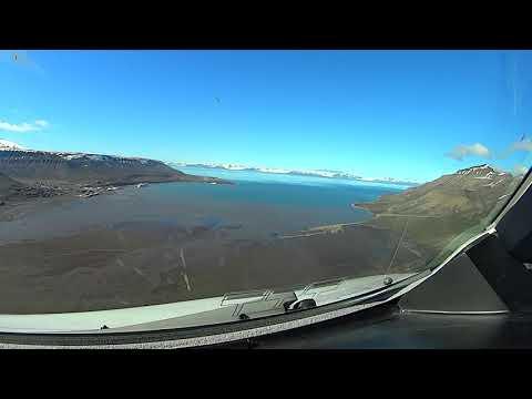 Landing in Longyearbyen (LYR, ENSB) Spitsbergen, Norway Svalbard Runway 28