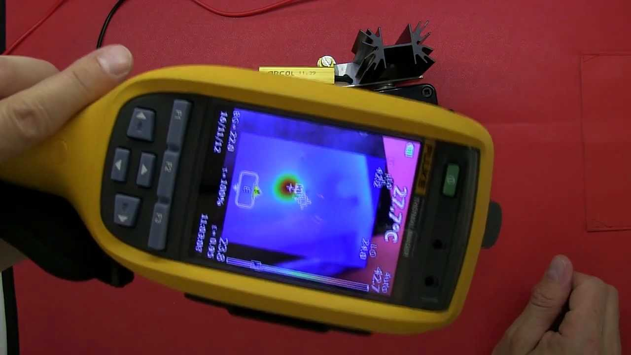 Review fluke ti125 thermal imager industrial commercial youtube for Thermal watches