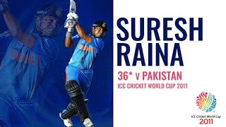 Suresh Raina's 36* | India v Pakistan | Cricket World Cup 2011