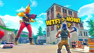 TROLLING DEFAULTS with GIANT GLITCH in Fortnite