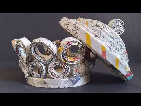 Newspaper Craft 2019    How to Make Newspaper Basket   Newspaper Tokari  