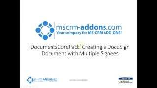 HowTo: Using DocuSign with DocumentsCorePack for Microsoft Dynamics CRM