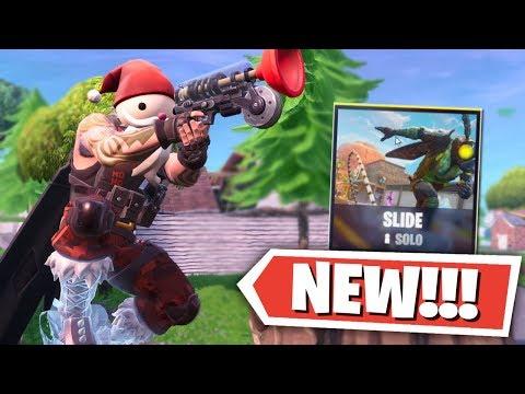 *NEW* Fortnite SLIDE SOLO LTM GAMEPLAY! (Fortnite Battle Royale New LTM) thumbnail