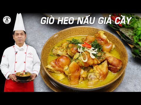 Giò Heo Nấu Giả Cầy - Cách nấu  Giả  Cầy Heo ngon | Kỹ Năng Vào Bếp
