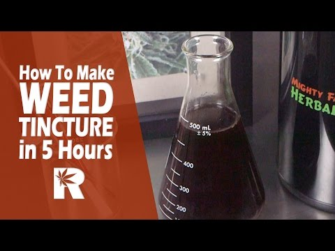 How To Make Cannabis Alcohol Tincture in 5 Hours (Mighty Fast Herbal Infuser): Cannabasics #52