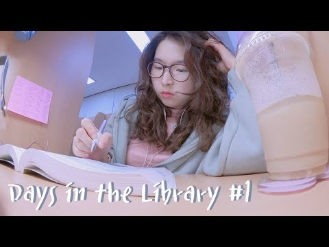 Study Vlog: Days in the Library #1 l twinklinglena