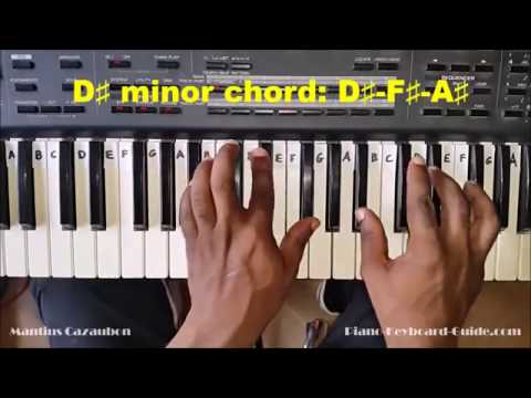 How to Play the D Sharp Minor Chord - D# Minor on Piano and Keyboard - D#m, D#min