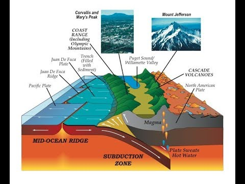 Geologists have found anomalies and mantel Rising under the Cascadia on