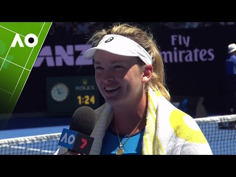 On court with CoCo Vandeweghe after her quarter final win | Australian Open 2017