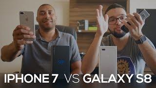 iPHONE 7 PLUS ou GALAXY S8 PLUS   QUAL O MELHOR?   #OPINATIVO