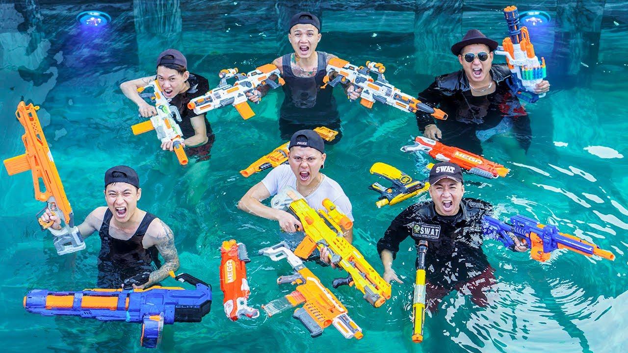 LTT Nerf War : SEAL X  Warriors Nerf Guns Sniper Skills Fight Villa Gang Dr Ken Crazy Group 2