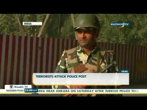 Terrorists attack police post  in India - Kazakh TV