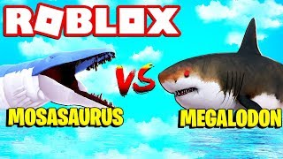 MOSASAURUS vs MEGALODON SHARK! Roblox SharkBite Neues Update
