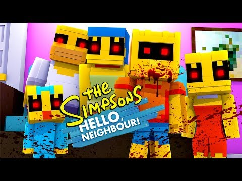 Minecraft - THE NEIGHBOUR IS CREATING SIMPSONS.EXE!
