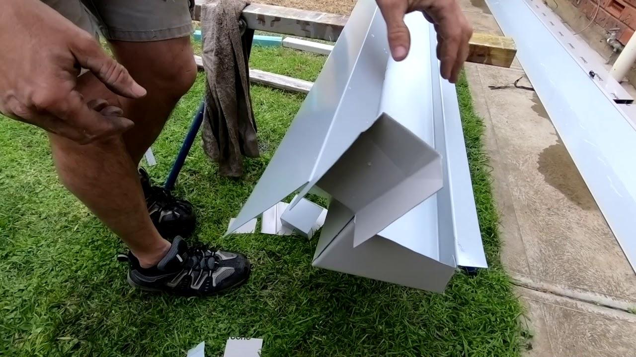 How To Build A Pergola Box Gutter Youtube