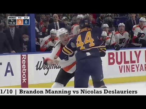 Top Five NHL Hockey Fights of January 2017
