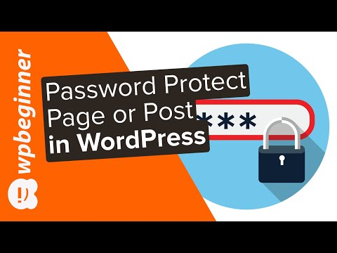 How To Password Protect A Page Or Post In WordPress
