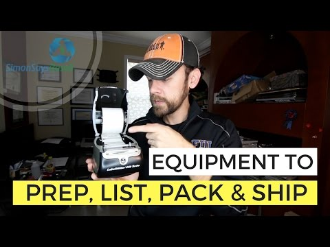 Equipment used to Prep, List, Pack and Ship to Amazon FBA