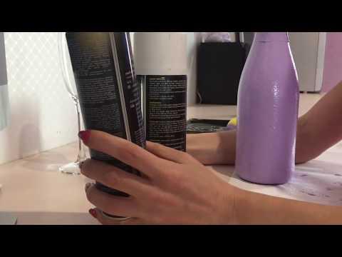 Чем лучше красить бутылки. Сравнение красок.