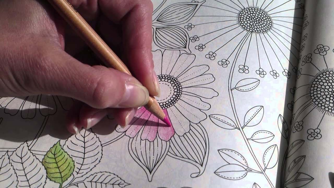 Secret Garden Colouring A Flower Part 2 How To