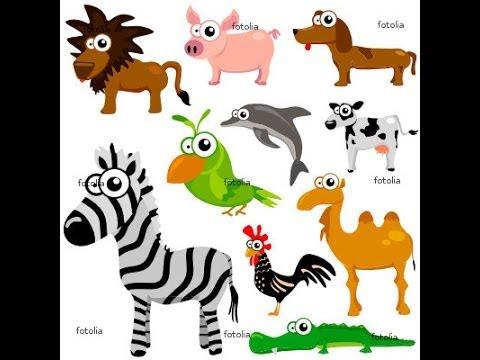 Favori Apprendre l'Anglais - Vocabulaire, Les animaux. - YouTube XM44
