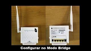 Como Configurar o ZTE ZXHN H108N Series no Modo Bridge