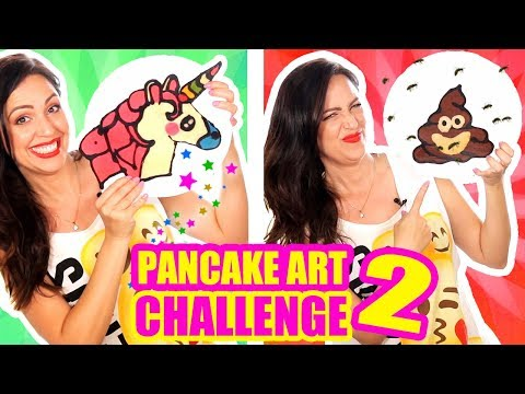 DIBUJOS QUE SE COMEN! Unicornio, Hello Kitty, KK - Pancake Art Challenge - Reto- SandraCiresArt