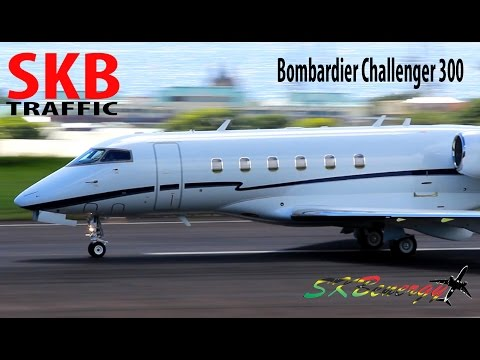 Beautiful !! Bombardier Challenger 300 making it way of out of St. Kitts