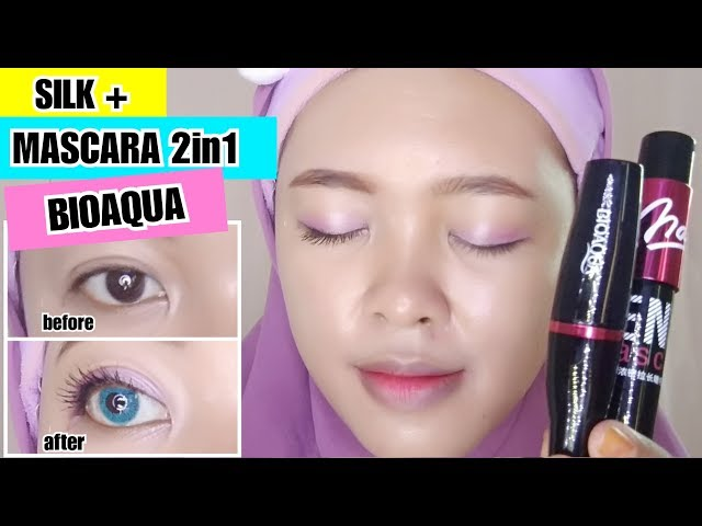 Review BIOAQUA SILK + MASCARA 2 in 1 - Mascara Fiber BAGUS BANGET | By Vapinka makeup