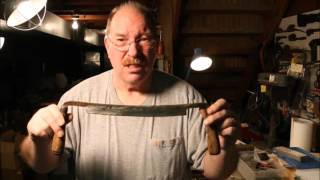 Sharpening A Draw Knife ~ Pt 1 ~ Flattening The Back ~ by Old Sneelock