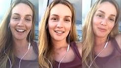 LEGENDADO | Leighton Meester's live on Instagram #1