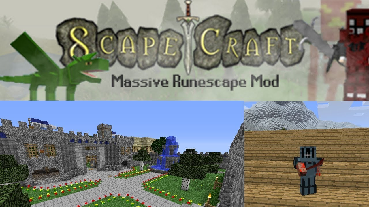 Scapecraft! A Minecraft MMO Mod like no other!, OVER 500 custom  mobs/models/weapons