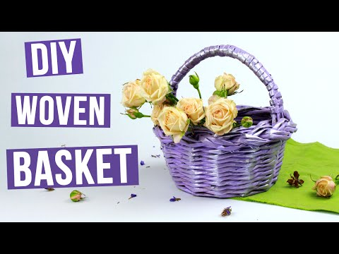 DIY Decorative Woven Basket From Paper Tubes
