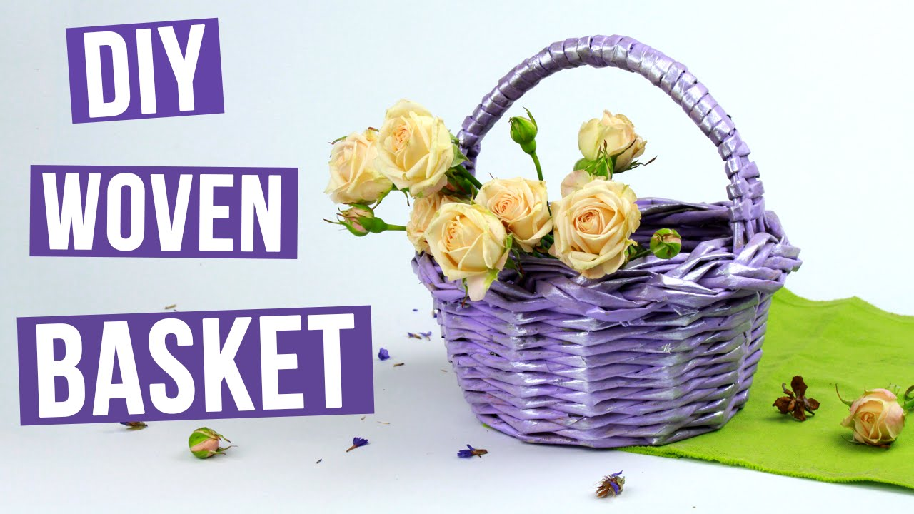Woven Basket How To Make : Diy decorative woven basket from paper tubes